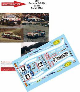 【送料無料】模型車 スポーツカー デカールポルシェコルシカラリーバレエラリーツアーdecals 118 ref 658 porsche 911 ballet rally tour of corse 1984 rally wrc