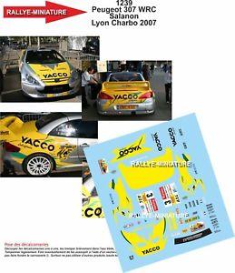 【送料無料】模型車 スポーツカー デカールプジョーラリーリヨンdecals 118 ref 1239 peugeot 307 wrc salanon rally lyon charbonnieres 2007