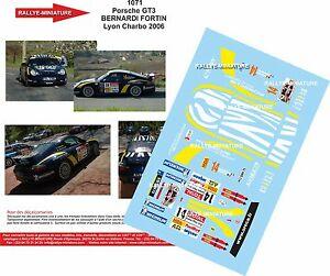 【送料無料】模型車 スポーツカー デカールポルシェベルナルディラリーリヨンラリーdecals 118 ref 1071 porsche 911 bernardi rally lyon charbonnieres 2006 rally