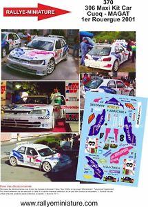【送料無料】模型車 スポーツカー ラリーデカールプジョーマキシラリーdecals 118 ref 370 peugeot 306 maxi cuoq rally of the rouergue 2001 rally