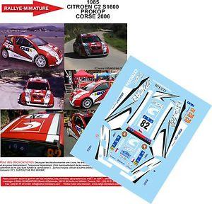 【送料無料】模型車 スポーツカー デカールシトロエンコルシカラリーラリープロコプツアーdecals 118 ref 1085 citroen c2 s1600 prokop tour of corse 2006 rally rally wrc