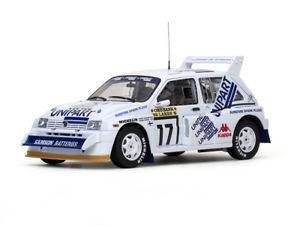 【送料無料】模型車 スポーツカー サンスターモデルラリーカーsunstar 5535 mg metro 6r4 model rally car h toivonen c wrede 1000 lakes 86 118