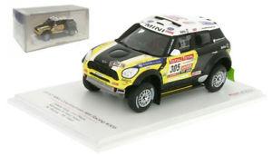 【送料無料】模型車 スポーツカー 305ダカールtruescaleミニall42012nローマ143truescale mini countryman all4 racing 305 dakar rally 2012 n roma 143 scale