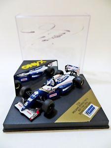 【送料無料】模型車 スポーツカー オニキスウィリアムズテストカー#デビッドクルサードonyx 232 williams fw16 test car 1995 f1 6 david coulthard signed 143 mibboxed