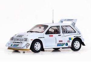 【送料無料】模型車 スポーツカー sunstar 5538 mg metro 6r4モデルレーシングカーアイルトンセナ118sunstar 5538 mg metro 6r4 model race car ayrton senna test car white 118th