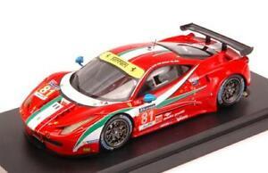 【送料無料】模型車 スポーツカー フェラーリ458イタリアn81 dnf lm2014ワイアットrugoloバード143 looksmart lslm09モードferrari 458 italia n81 dnf lm 2014 wyattrugolobird 143 look