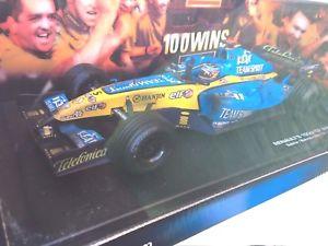 【送料無料】模型車 スポーツカー フェルナンドアロンソルノーグランプリバーレーンホットホイールfernando alonso renaults 100th gp win bahrain 2005 hot wheels 118