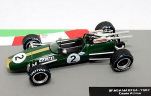 【送料無料】模型車 スポーツカー フォーミュラカーコレクションブラバムヒュームモデルformula 1 car collection brabham bt24 1967 denis hulme 143 f1 model