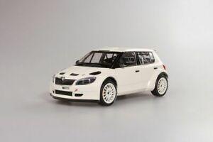 【送料無料】模型車 スポーツカー シュコダファビアskoda fabia s2000 white abrex 118
