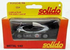 【送料無料】模型車 スポーツカー モデルカーポルシェスケールレーシングカーsolido 143 scale model car 1334 porsche 936 racing car
