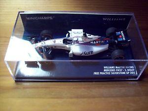 【送料無料】模型車 スポーツカー ウィリアムズマルティニレーシングメルセデススージーウォルフフリーシルバーストーン143 williams martini racing mercedes fw37 susie wolff free practice silverstone