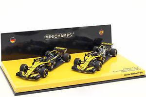 【送料無料】模型車 スポーツカー ルノー#ルノーセットミニムrenault 27 amp; sainz 55 2car set renault rs18 formula 1 2018 143 mini cham