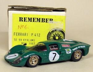 【送料無料】模型車 スポーツカー 143キットフェラーリp 41224h 9h kyalami1967モデルカーremember 143 scale kit ferrari p 412 24h 9h kyalami 1967 resin model car