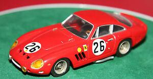 【送料無料】模型車 スポーツカー ホワイトメタル#フェラーリマウスボタンルマングレゴリーカーhand built 143 amr white metal 26 ferrari 250 gto lmb le mans 1963 gregory car