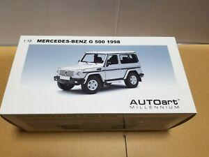 【送料無料】模型車 スポーツカー ベンツシルバーautoart mercedes benz g 500 1998 76112 silver 118