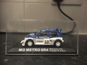 【送料無料】模型車 スポーツカー ixoラリーカーメトロ6r4 t143vgc racラリー1985ixo rally car collection metro 6r4 tpond 143 vgc rac rally 1985