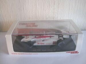 【送料無料】模型車 スポーツカー スパーク143シアドアty01 dダーリーアフリカgp 1982 s4315spark 143 theodore ty01 d daly south african gp 1982 s4315