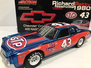 【送料無料】模型車 スポーツカー #リチャードペティシボレーサイン43 stp richard petty 1980 chevrolet 100th win 124 historical autographed