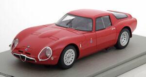 【送料無料】模型車 スポーツカー アルファロメオバージョンレッド118 tecnomodel alfa romeo tz2 press version 1965 red