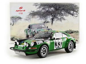 【送料無料】模型車 スポーツカー スパークポルシェアフリカサファリラリーspark 118 porsche 911 st east african safari rally 1971 18s285