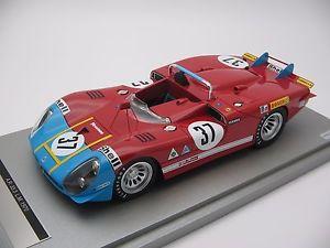 【送料無料】模型車 スポーツカー 118tecnomodelアルファロメオ33324h 1970tm1827cルマン118 scale tecnomodel alfa romeo 333 long tail le mans 24h 1970tm1827c
