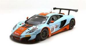 【送料無料】模型車 スポーツカー マクラーレングアテマラ#スパスケールミニチュアモデルmclaren 12c gt3 69 gulf 24h spa 2013 true scale miniature 118 tsm141822r model