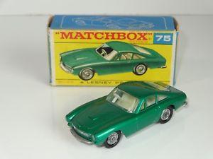 【送料無料】模型車 スポーツカー マッチフェラーリシルバーベースボックスnb matchbox lesney ferrari berlinetta 75 rare silver painted base f box