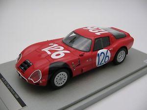 【送料無料】模型車 スポーツカー スケールアルファロメオタルガフローリオ#118 scale tecnomodel alfa romeo tz2 targa florio 1966 car 126 tm1865c