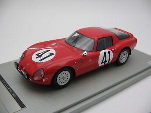 【送料無料】模型車 スポーツカー スケールアルファロメオルマン#118 scale tecnomodel alfa romeo tz2 le mans 24h 1965 car 41 tm1865b