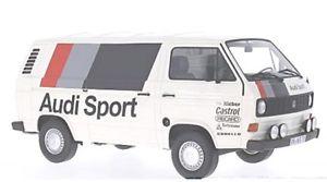 【送料無料】模型車 スポーツカー フォルクスワーゲンt3 アウディスポーツ1980vw t3 box audi sport 1980
