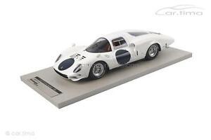 【送料無料】模型車 スポーツカー フェラーリ365 p2バージョンle mans 1966 100tecnomo1ferrari 365 p2 white elephantpress version le mans 1966 1 of 100tecnomo