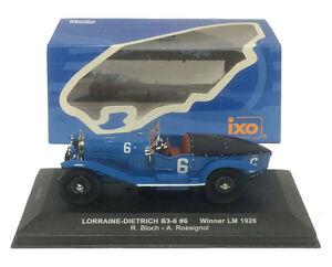 【送料無料】模型車 スポーツカー ネットワーク#ルマンスケールixo lm1926 lorrainedietrich b 36 6 le mans winner 1926 143 scale