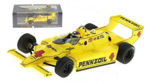 【送料無料】模型車 スポーツカー スパーク43in80チャパラル2kインディ5001980ジョニーラザフォード143spark 43in80 chaparral 2k winner indy 500 1980 johnny rutherford 143 scale