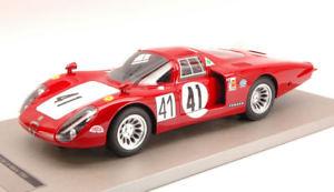 【送料無料】模型車 スポーツカー アルファロメオロングテール#ルマンalfa romeo 332 long tail 41 retired 24h le mans 1968 tecnomodel 118 tmd1808d