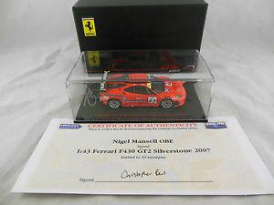 【送料無料】模型車 スポーツカー レッドラインモデルnマンセルフェラーリf430 gt2 scuderia sparp001red line models hand signed n mansell ferrari f430 gt2 scuderia sparp001