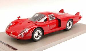 【送料無料】模型車 スポーツカー アルファロメオロングテールルマンキーalfa romeo 332 press long tail le mans press 1968 red tecnomodel 118 tmd1808a