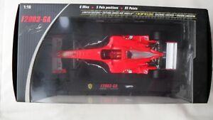 【送料無料】模型車 スポーツカー フェラーリf2003gaミハエルシューマッハー118マテルエリートn2077モデルmattel elite n2077 model ferrari f2003ga michael schumacher 118 scale