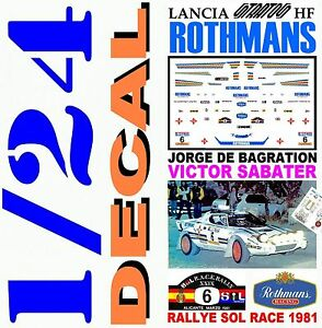 【送料無料】模型車 スポーツカー decal kit 124lancia stratos hf jorge de bagrationrally race 198106decal kit 124 lancia stratos hf jorge de bagration rall