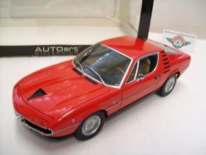 【送料無料】模型車 スポーツカー アルファロメオモントリオールalfa romeo montreal, 1970, red, autoart 118, ovp