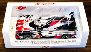 【送料無料】模型車 スポーツカー サインルトヨタハイブリッドアロンソautographed jpn le spark 143 toyota gazoo ts050 hybrid buemi nakajima alonso