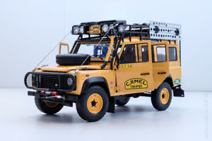 【送料無料】模型車 スポーツカー ランドローバー110ダトロフィー810305118 neuovpland rover defender 110 camel trophy edition almost real 810305 118 neuamp;ovp