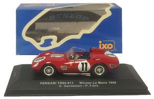【送料無料】模型車 スポーツカー ネットワークフェラーリ#ルマンフリアスケールixo lm1960 ferrari tr60 11 winner le mans 1960 gendebienfrere 143 scale