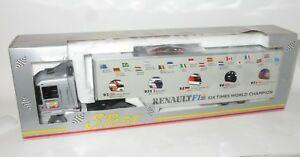 【送料無料】模型車 スポーツカー ルノーマグナムトイレヒルプロストマンセルeligor 143 renault magnum f1 transporter six times wc hillprostmansell 2