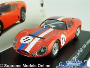 【送料無料】模型車 スポーツカー マセラティマセラティカーモデルサイズネットワークキロデパリmaserati tipo 1513 car model 143 size ixo 1000 kilometres de paris 1964 simont