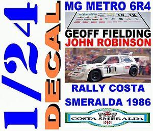 【送料無料】模型車 スポーツカー デカールキットラリーコスタスメラルダフィールディングdecal kit 124 mg metro 6r4 ge fielding rally costa smeralda 1986 06