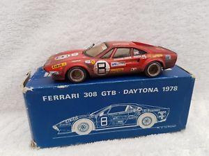 【送料無料】模型車 スポーツカー fds143ホワイトメタルフェラーリ308 gtb daytona1978fds143 scale white metal ferrari 308 gtb daytona 1978 weathered finish