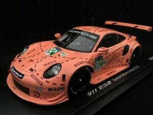 【送料無料】模型車 スポーツカー スパークルマン#ピンクブタカラーリング118 spark 911 rsr 991 winner 24h of le mans 2018 92 pink pig livery 70th anniv