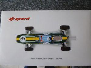 【送料無料】模型車 スポーツカー スパークロータスフランスジムクラークspark 18th lotus 25 winner french gp 1965 jim clark