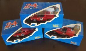 【送料無料】模型車 スポーツカー ネットワークフェラーリ##ルマンixo lm1961,1963, 1965 ferrari tr61 10, 21 le mans winner 1961,63,65