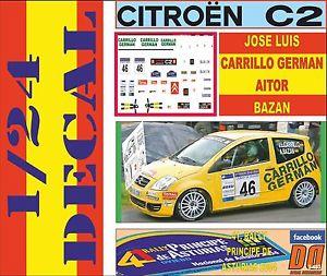 【送料無料】模型車 スポーツカー キットシトロエンコパプリンシペデアストゥリアス listingdecal kit 124 citroen c2 copa j l carrillo r principe de asturias 2004 06